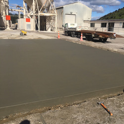 Quantum Concrete completed this concrete loader pad for Graymont limeworks
