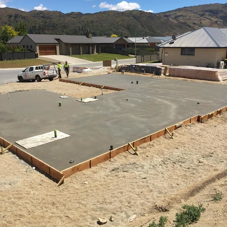 House slabs dunedin for Concrete slab plans